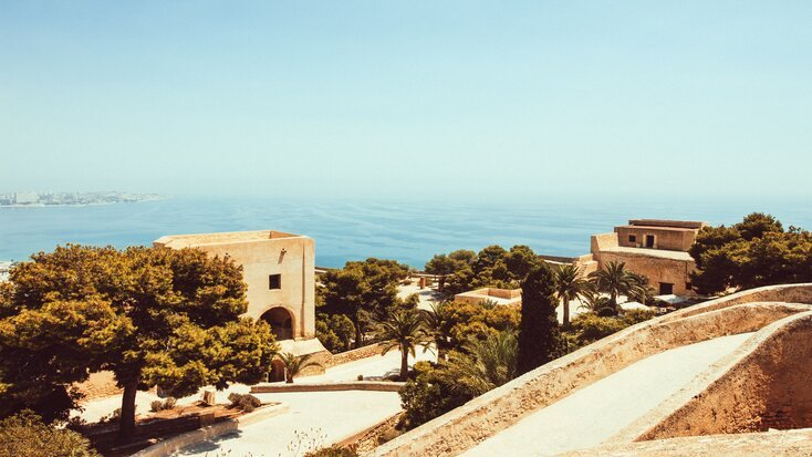 The view from the cliff in one of the best places to visit near Malaga