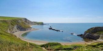 Man o war bay on the Jurassic Coast. A UNESCO World Heritage Site